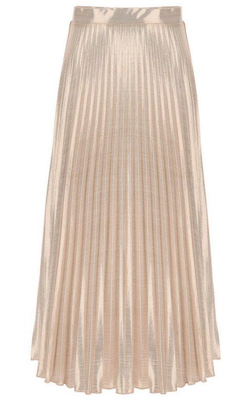 Розовая плиссированная юбка-миди с серебристым блеском IMPERIAL GDE4ZLJP
