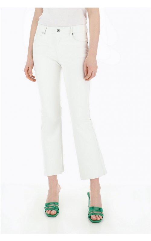 Укороченные белые брюки PLEASE P0FKHA4000