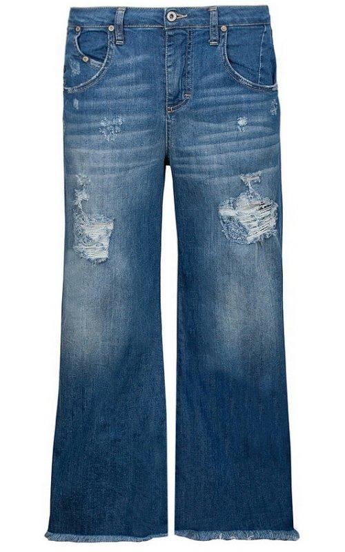 Синие широкие джинсы PLEASE P1WQBQ2P8Z