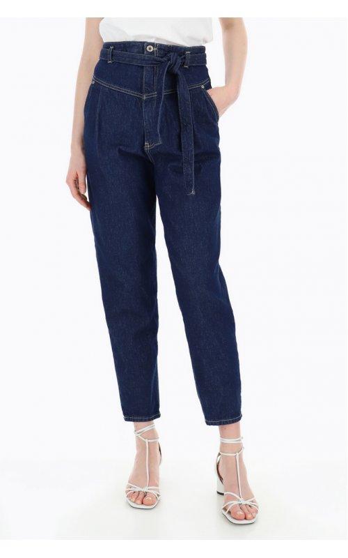 Стильные синие джинсы с поясом PLEASE P2CNEH0W49