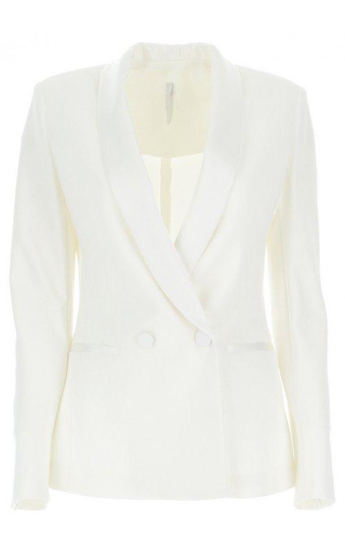 Молочный двубортный пиджак IMPERIAL JV99ZFW