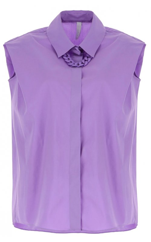 Лиловая рубашка oversize с цепочкой IMPERIAL CJU2BBE