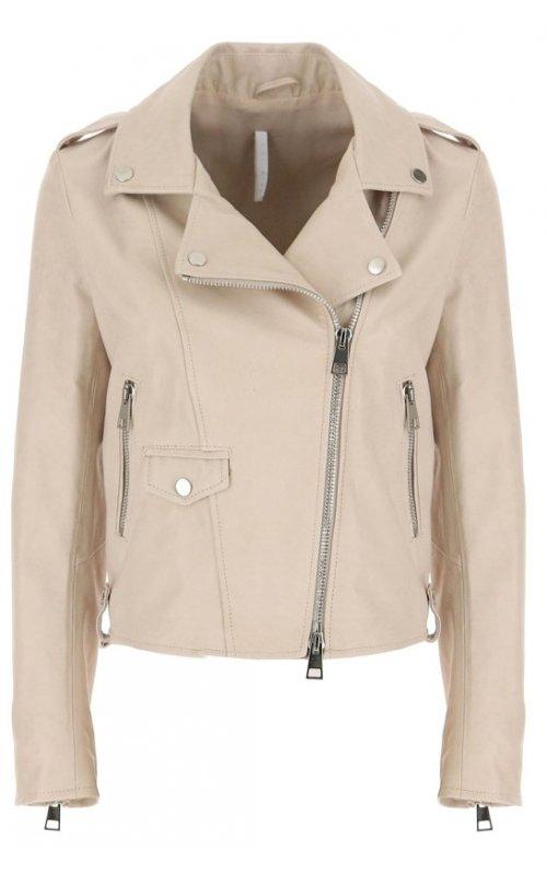 Бежевая кожаная куртка IMPERIAL V3025400