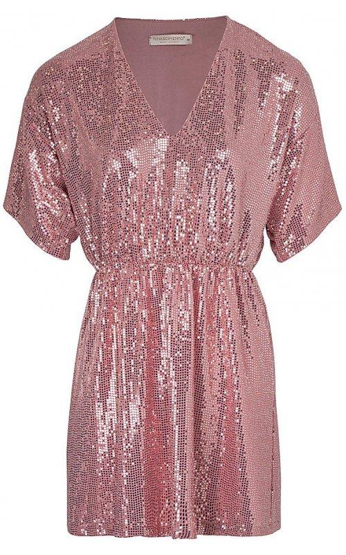 Розовое платье с пайетками RINASCIMENTO 96035