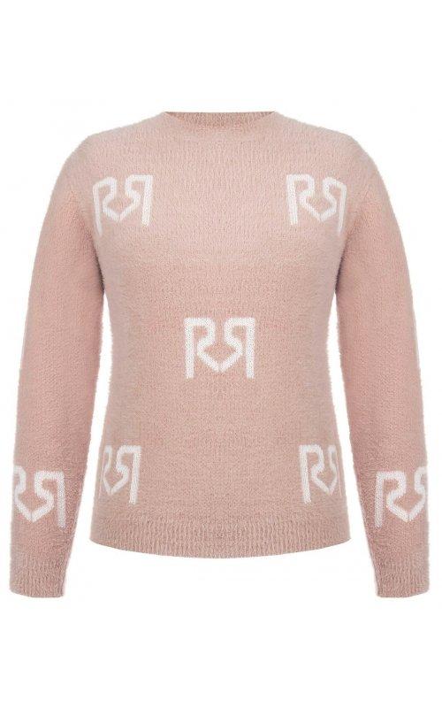 Розовый джемпер с логотипом RINASCIMENTO 9854