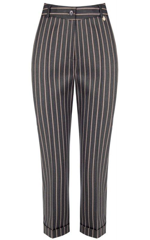 Серые брюки в полоску RINASCIMENTO 99905