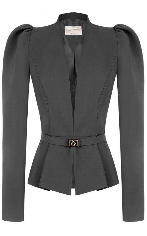 Серый пиджак с поясом RINASCIMENTO 99972