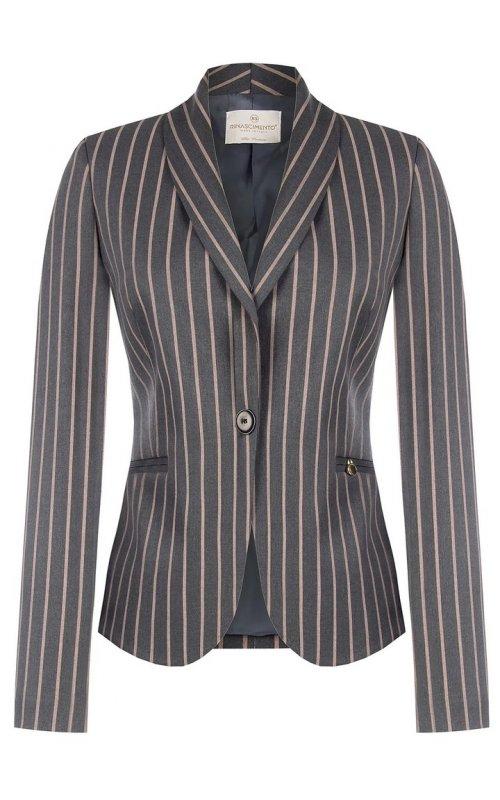Серый пиджак в полоску RINASCIMENTO 99973