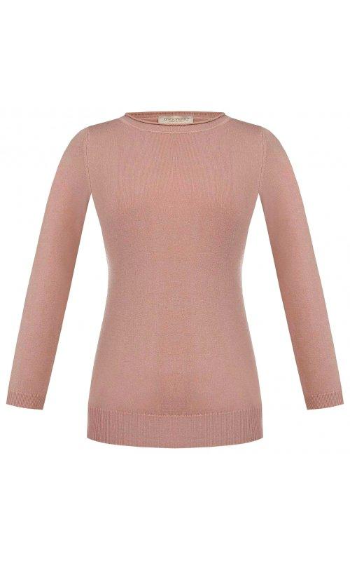 Темно-розовый джемпер с рукавом три четверти RINASCIMENTO 9751