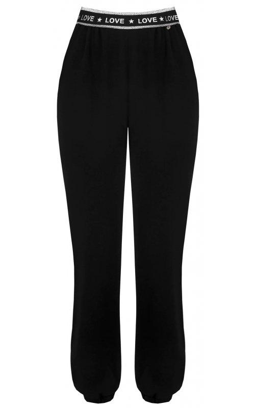 Черные брюки с контрастными вставками RINASCIMENTO 99560