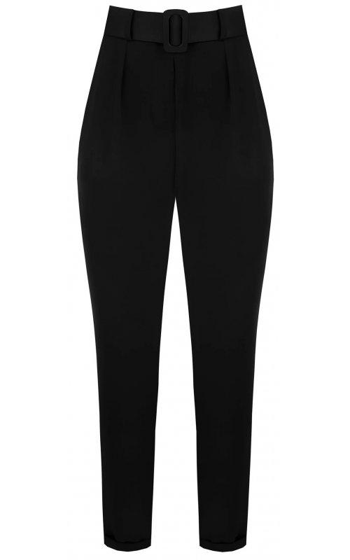 Черные брюки с поясом RINASCIMENTO 99717