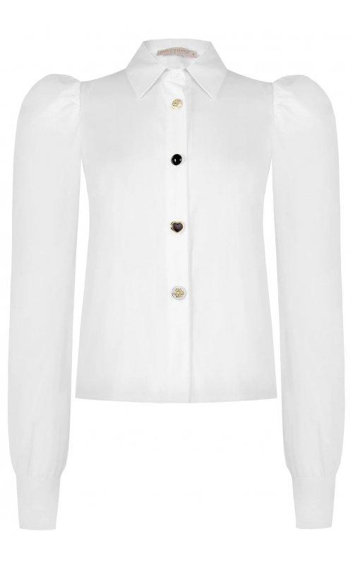 Белая блуза с рукавами фонариком RINASCIMENTO 99979