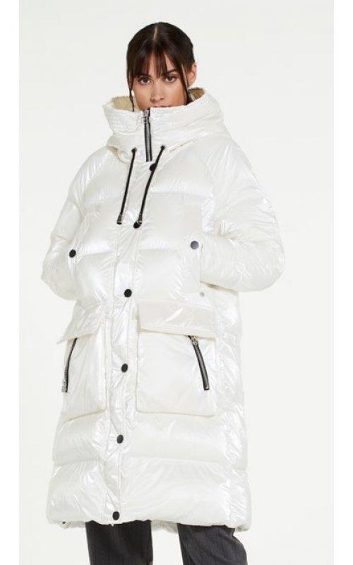 Белая куртка с капюшоном RINASCIMENTO 98591
