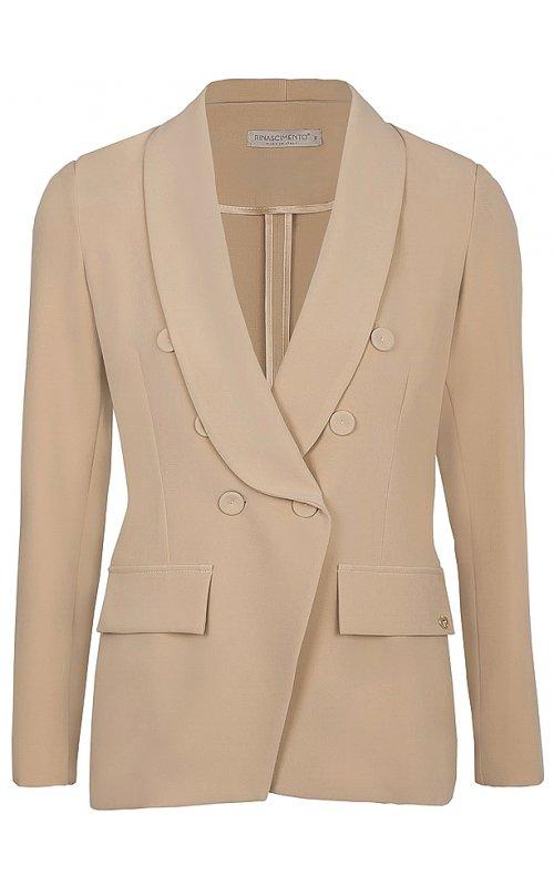 Розовый двубортный пиджак RINASCIMENTO 99814