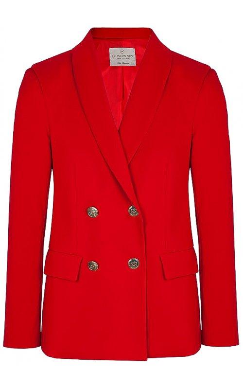 Красный двубортный пиджак RINASCIMENTO 100894