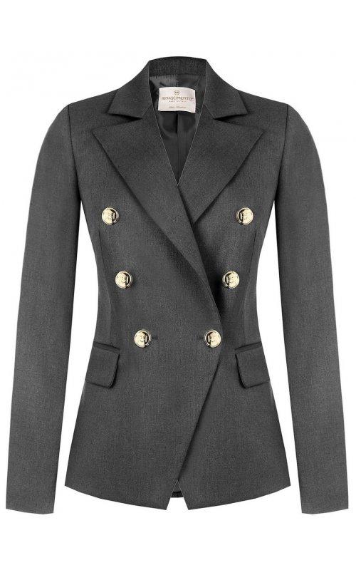 Серый двубортный пиджак RINASCIMENTO 99975