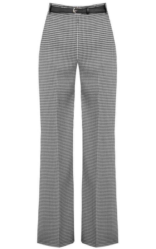 """Черные брюки с принтом """"гусиная лапка"""" RINASCIMENTO 100653"""