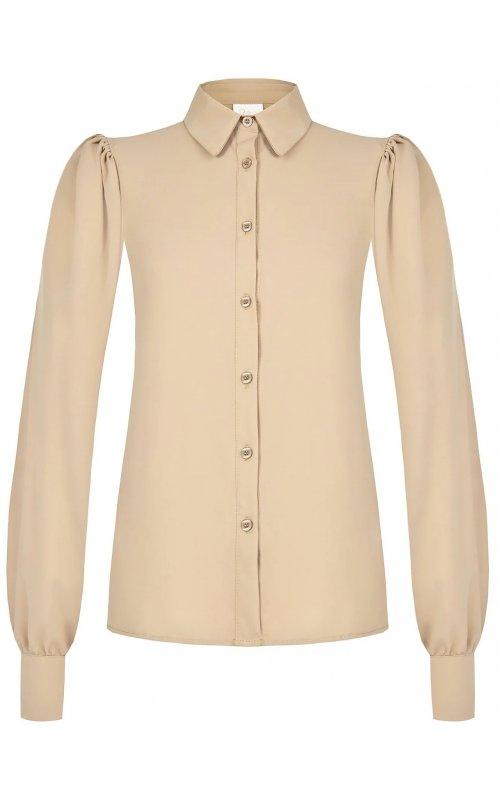 Бежевая классическая блуза с рукавами фонариком RINASCIMENTO 100845