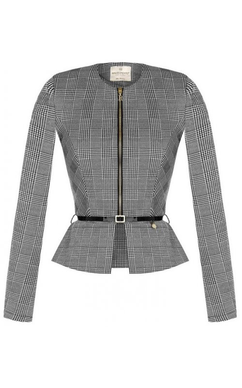 Серый пиджак с поясом RINASCIMENTO 100847