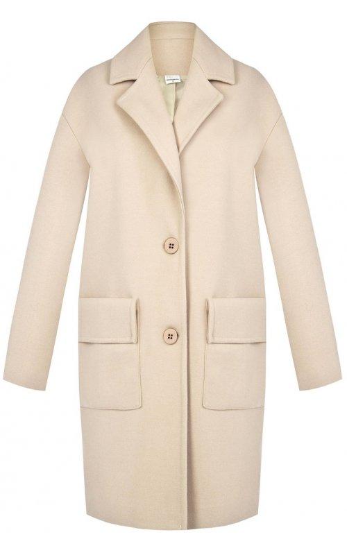 Бежевое пальто с накладными карманами RINASCIMENTO 100762