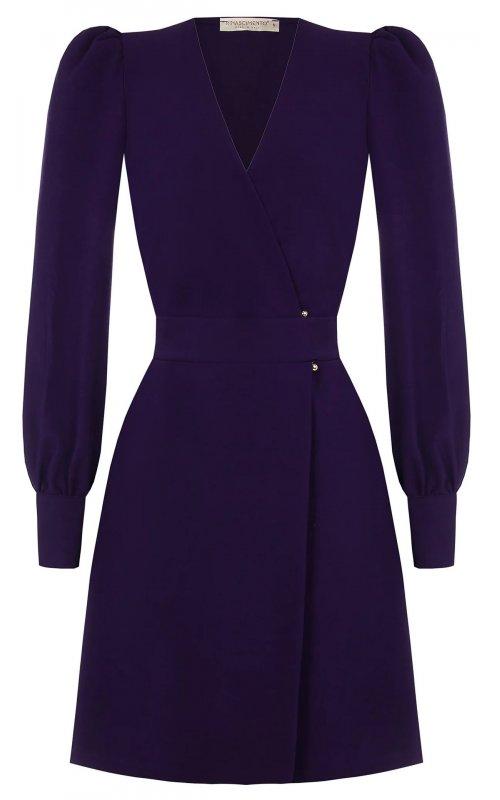 Фиолетовое платье с перекрестным вырезом RINASCIMENTO 101427
