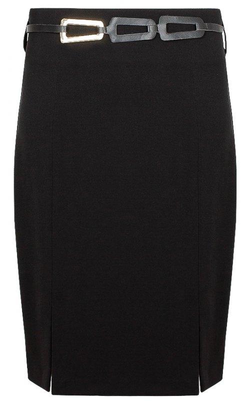 Черная юбка с поясом RINASCIMENTO 101498