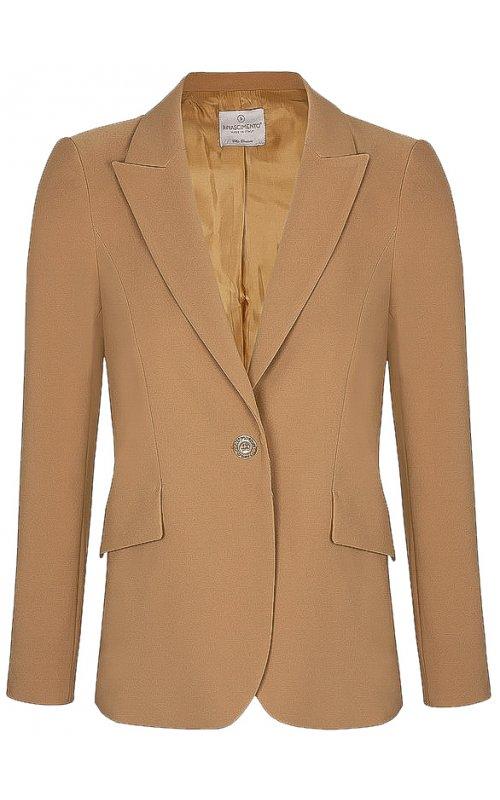 Бежевый однобортный пиджак RINASCIMENTO 101511