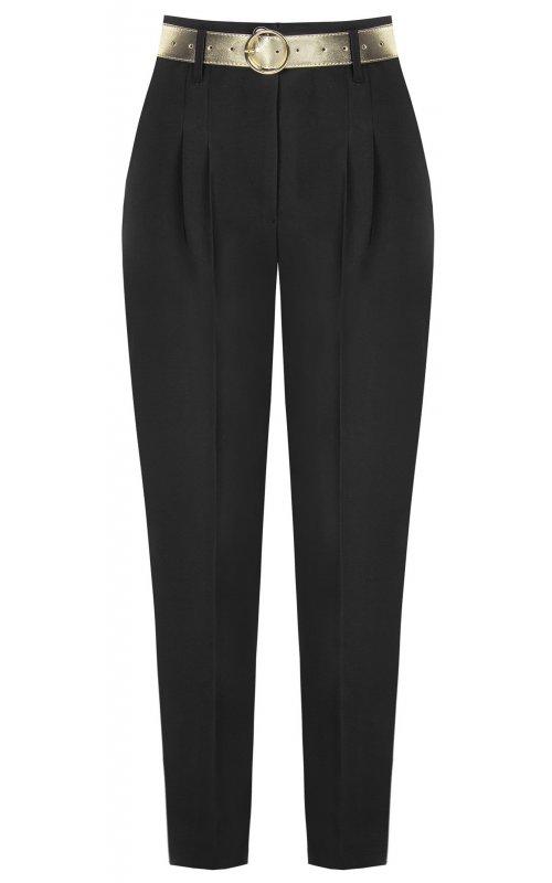 Черные брюки с поясом RINASCIMENTO 17183