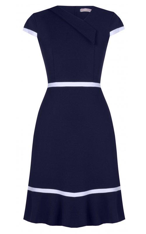 Темно-синее платье с белыми вставками RINASCIMENTO 96977
