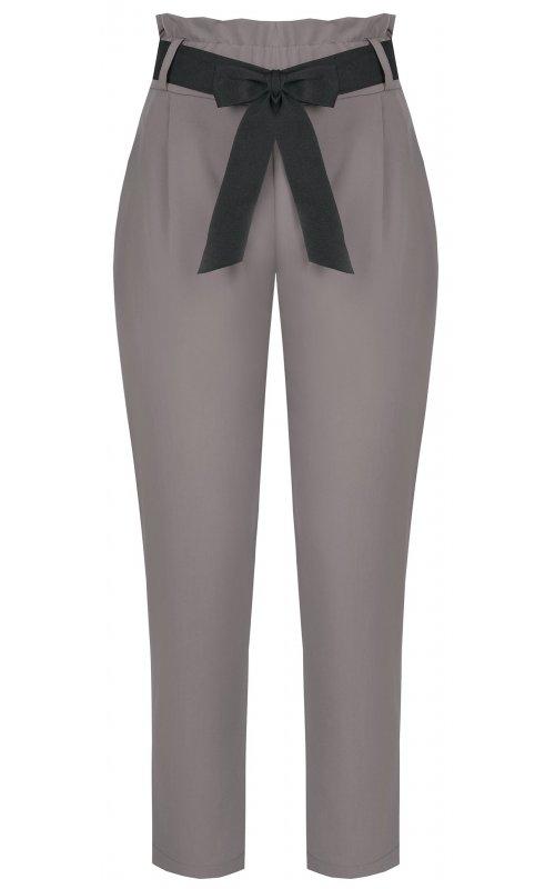 Серые брюки с поясом-бантом RINASCIMENTO 97089