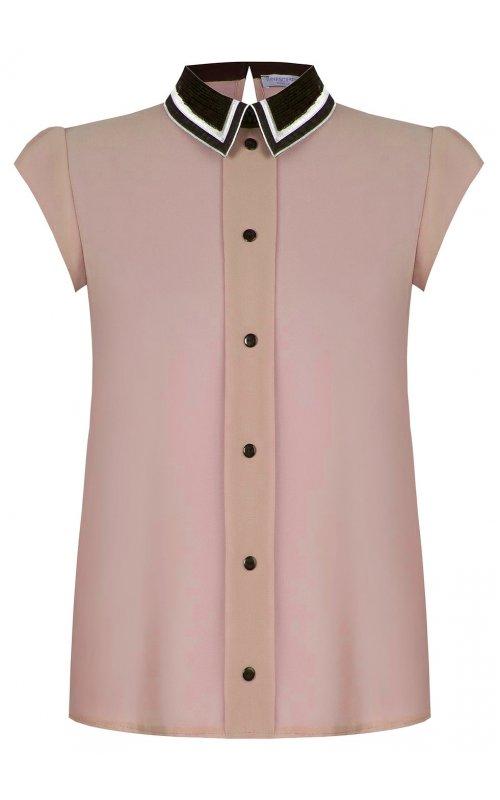 Розовая блуза с пайетками на воротнике RINASCIMENTO 97094