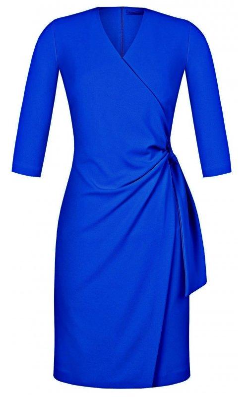 Синее платье на запах RINASCIMENTO 97463