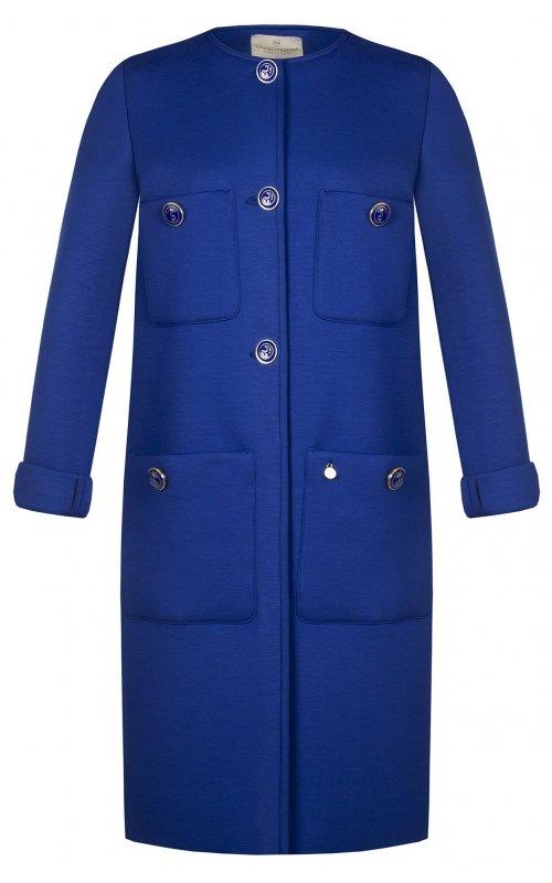 Синее пальто с накладными карманами RINASCIMENTO 97477