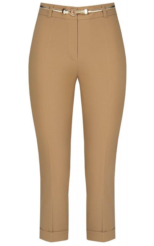 Бежевые укороченные брюки с поясом RINASCIMENTO 97446