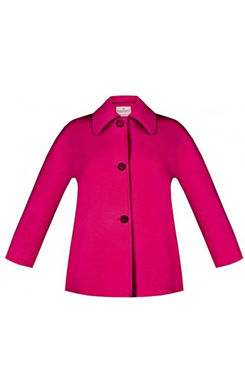 Короткое пальто цвета фуксия RINASCIMENTO 97476