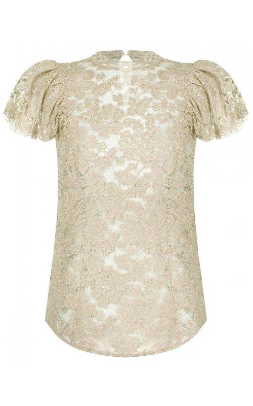 Бежевая кружевная блуза RINASCIMENTO 17221