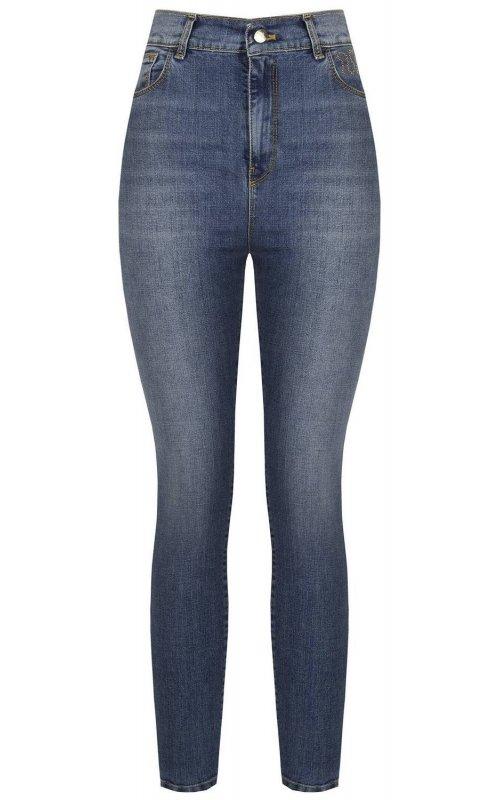 Женские синие джинсы с высокой талией RINASCIMENTO 96746
