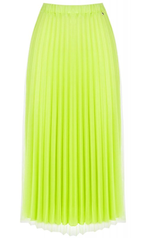 Салатовая плиссированная юбка с фатином RINASCIMENTO 103156