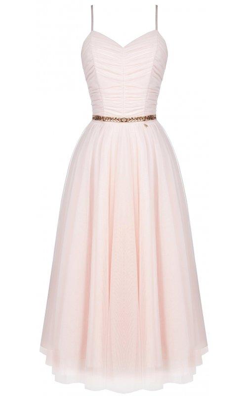 Розовое фатиновое платье с пышной юбкой RINASCIMENTO 102123