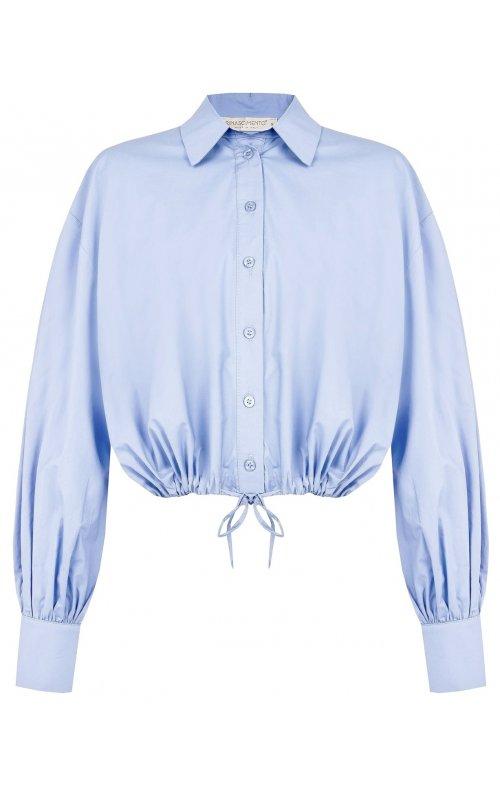 Голубая укороченная блуза RINASCIMENTO 102981
