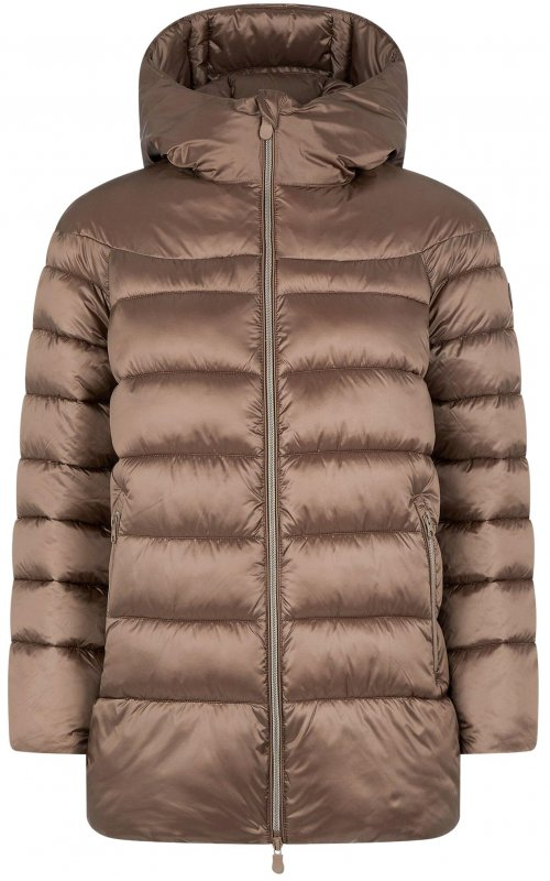 Куртка кофейного цвета с капюшоном SAVE THE DUCK SD 4696