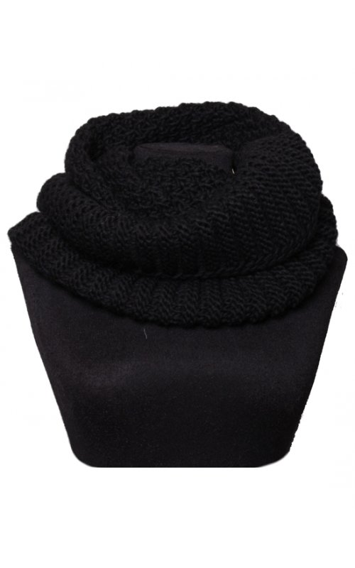 Черный шарф-хомут STEFANIA MAIAROLI 19099885