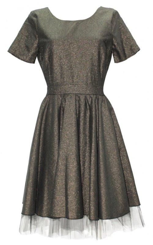 Золотое платье с открытой спиной IMPERIAL A999O297C