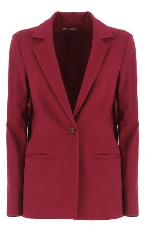 Бордовый прямой пиджак IMPERIAL JU55WFW