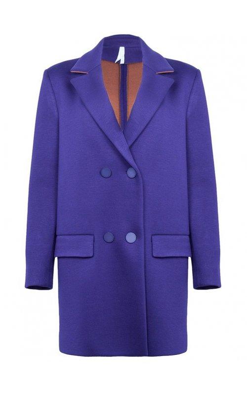 Фиолетовое прямое пальто IMPERIAL KF80WOQ