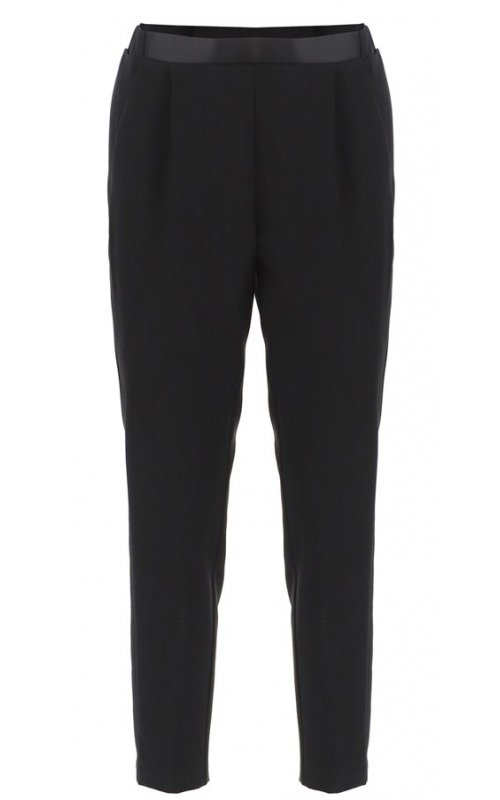Черные брюки с лампасами IMPERIAL PTG4WGQN