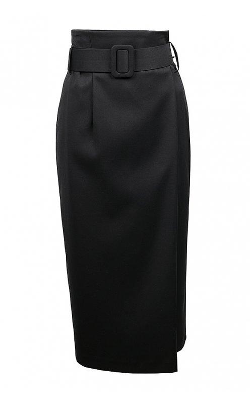 Черная юбка с высокой талией IMPERIAL G9990073G
