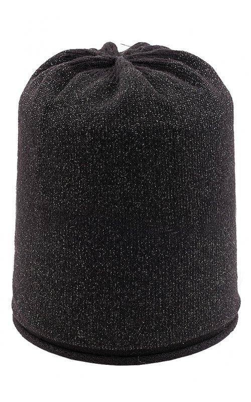 Черная шапка с люрексом Anna Pepe AP 2826L
