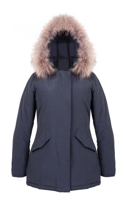 Черная куртка с мехом FLY FL 1756
