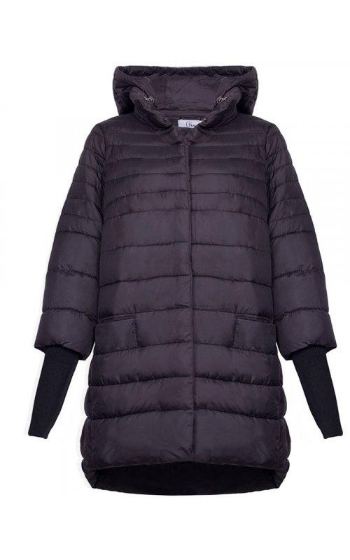 Черная куртка с вязанными манжетами FLY F 1828